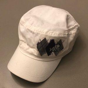 White TCU pageboy adjustable cap